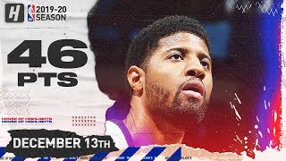 Paul George 46 Pts Full Highlights | Clippers vs Timberwolves | December 13, 2019
