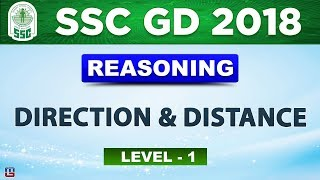 Direction & Distance | Level 1 | SSC GD 2018 |  Reasoning | Live at 3 PM