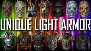 Skyrim - All Unique Light Armor Pieces & Sets