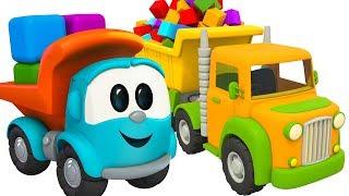 Грузовичок Лева - Мультфильмы для малышей - Собираем грузовик