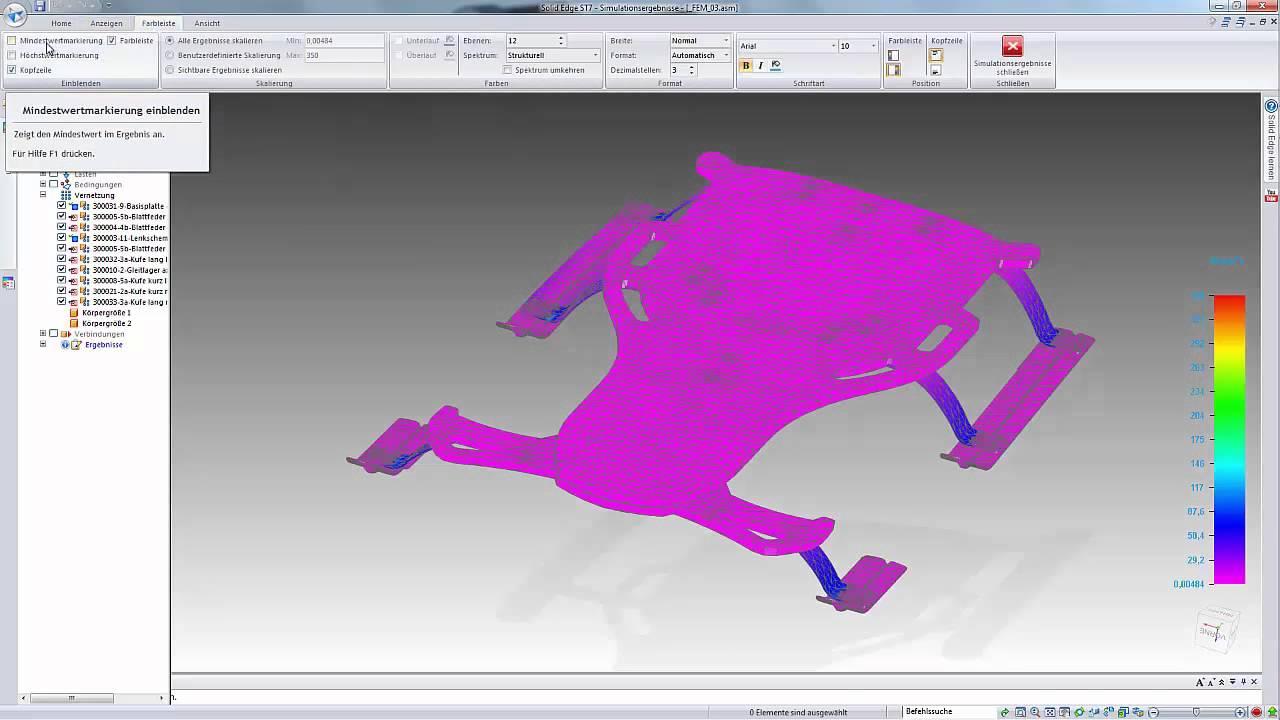 Vorschaubild: Solid Edge: FEM-Berechnung mit Solid Edge Simulation