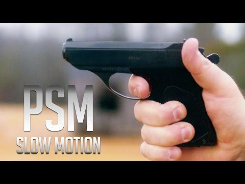 Russian PSM Pistol in Ultra Slow Motion