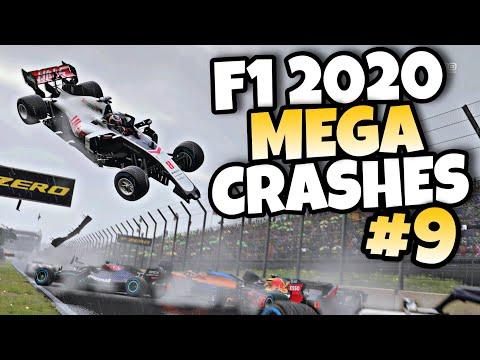 F1 2020 MEGA CRASHES #9