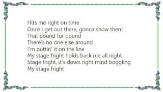 Chic - Stage Fright Lyrics