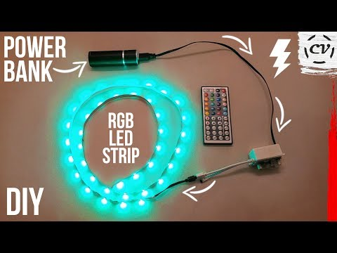 How To Power LEDs With A Power Bank (5V To 12V)