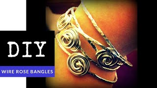 How To Make Stackable Rose Bangle Bracelets (Rosebud Wire Jewelry DIY)