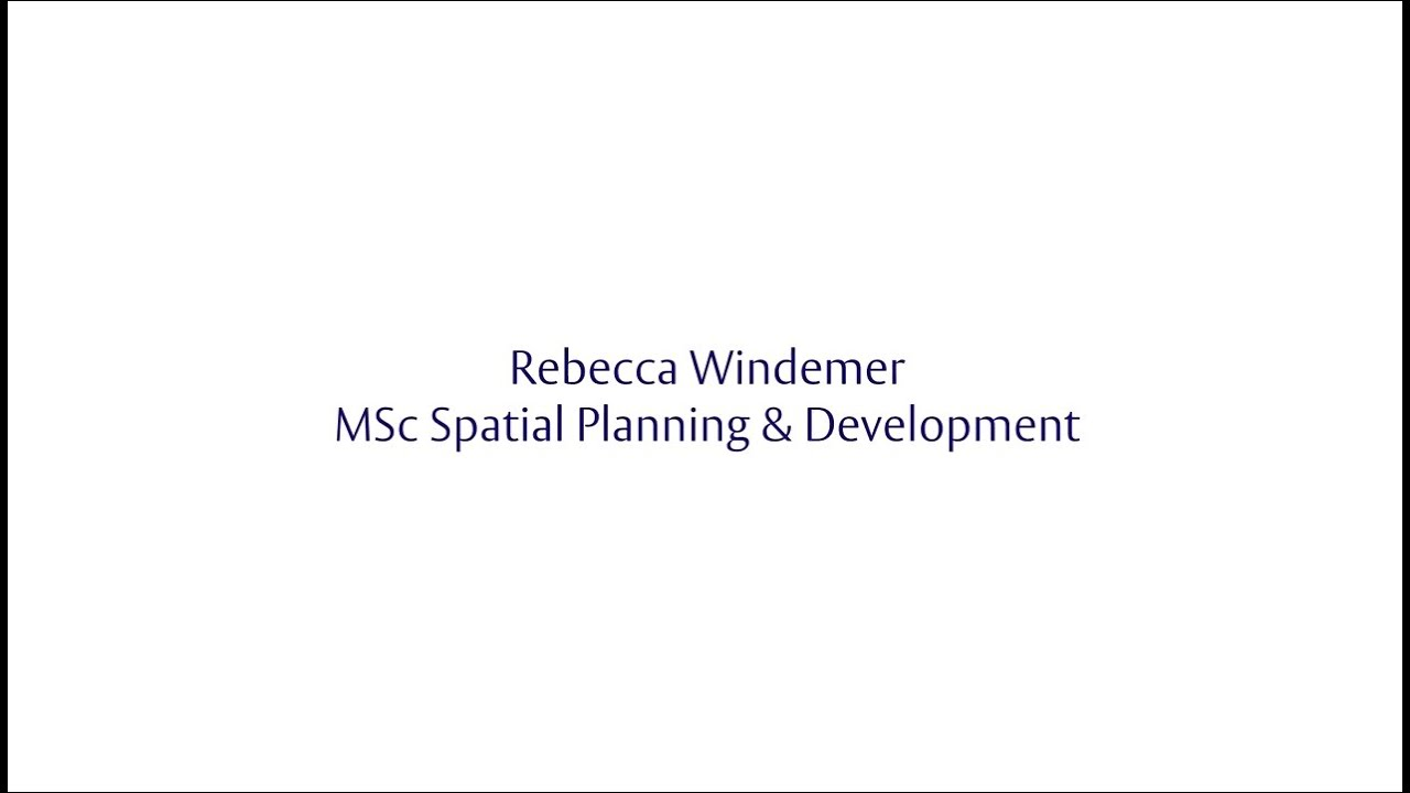 Henley Challenge 2015 - Rebecca Windemer MSc Spatial Planning & Development