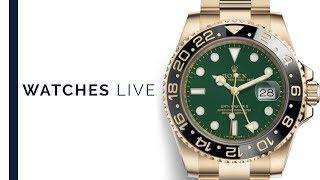 Sports Watches: Rolex GMT-Master, Omega Seamaster: Dress Watches: Vacheron, Rolex Tridor; Lange 1