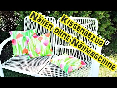 DIY/Kissenbezug f.d.Garten/nähen ohne Nähmaschine/selber machen