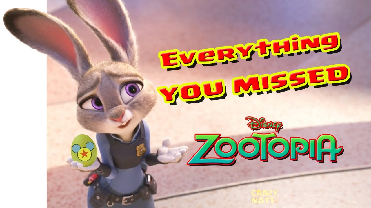 Everything You Missed in Zootopia! (by Crazy Nate)