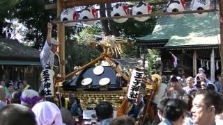 平成26年 松戸市馬橋・王子神社例大祭 宮神輿=発輿・渡御