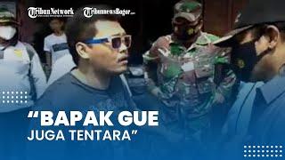 Viral Video Pria Tak Percaya Covid-19 Tolak Diberi Sanksi saat Razia Masker: Bapak Gue Juga Tentara
