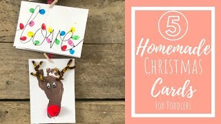 Homemade Christmas Cards   Crafts For Toddlers