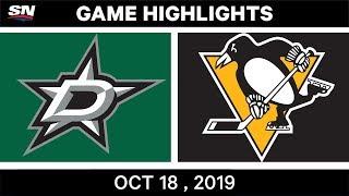 NHL Highlights | Stars vs. Penguins – Oct. 18, 2019