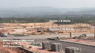 Bahria Enclave Islamabad Sector J Development Progress October 2018