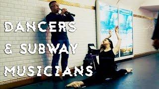 DANCERS SURPRISE MUSIC PERFORMERS IN PARIS SUBWAY