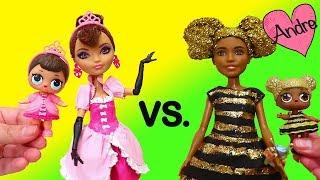 Familia Fancy vs. Familia Queen Bee | Muñecas y juguetes con Andre para niñas y niños
