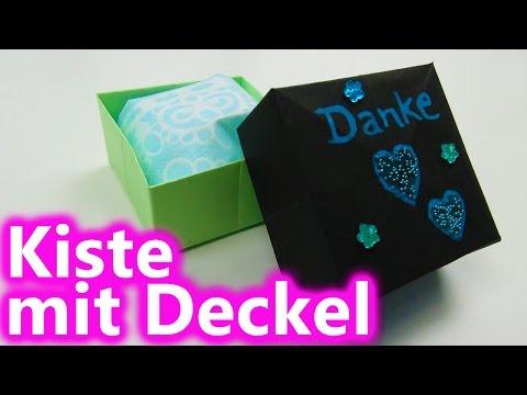 DIY Aufbewahrung | Kästchen | Schachtel | Kiste mit Deckel aus Papier falten