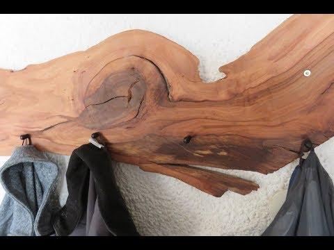 Garderobe aus Apfelholz