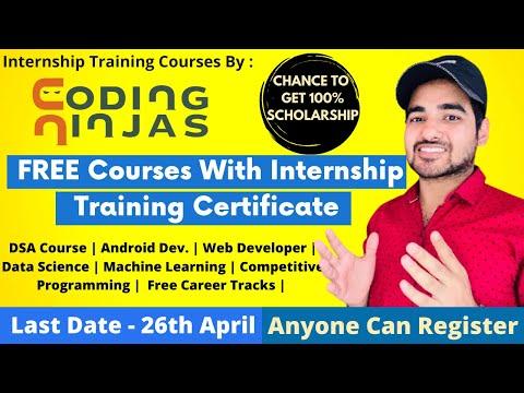 Free Coding Ninjas Online Courses   Free Internship Training ...