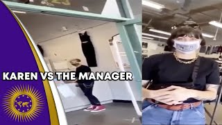 Karen Challenges The Manager After Being Asked To Wear A Mask In Store