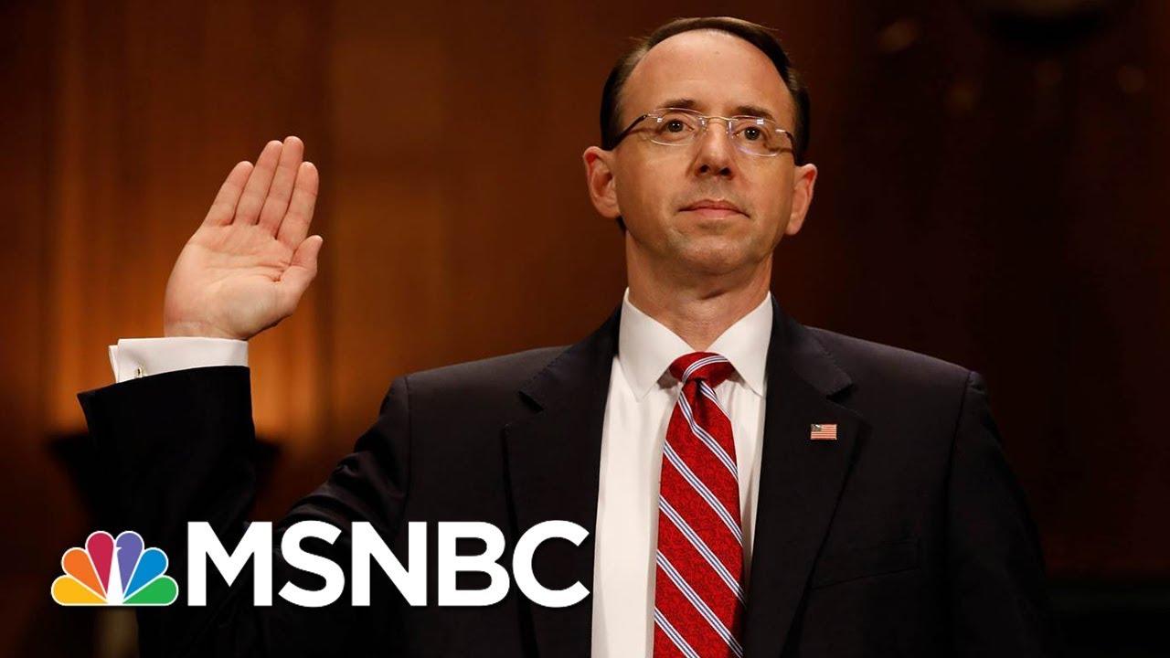 NYT: Memo Hints At A New Target: Rod Rosenstein | Morning Joe | MSNBC thumbnail