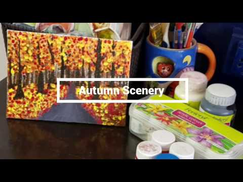 Autumn Scenery with Fevicryl Acrylic Colours