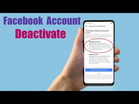 How to Deactivate Facebook Account on Mobile 2018 | Mobile App