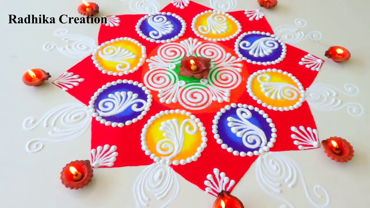 sanskar bharti diwali rangoli design by radhika creation