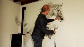 Horse Painting Mural By Studio RoVa