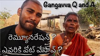 Gangavva Q and A | my village show telugu Vlogs