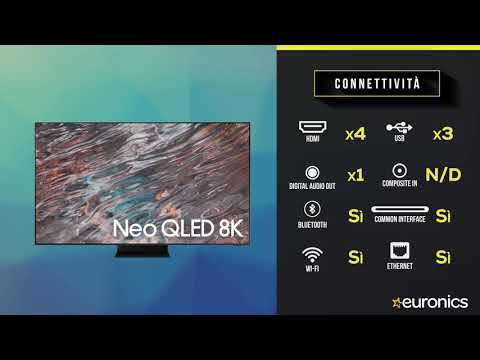 "SAMSUNG TV Neo QLED 8K 65"" QE65QN800A Smart TV Wi-Fi  2021 Stainless Steel"