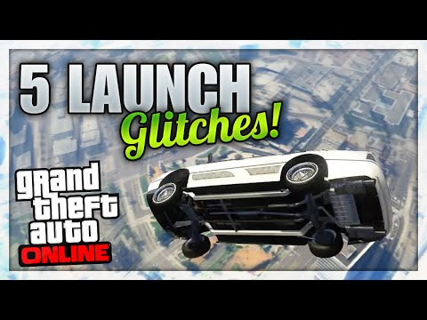 GTA 5 Online - 5 LAUNCH GLITCHES! (Player Launch Glitch & Car Launch Glitch)