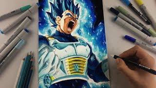 Drawing Vegeta NEW FORM| BEYOND Super Saiyan Blue