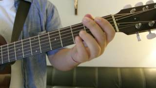"""Frank Ocean   """"Thinking Bout You"""" How To Play Guitar (Easy!! Guitar Tutorial!!)"""