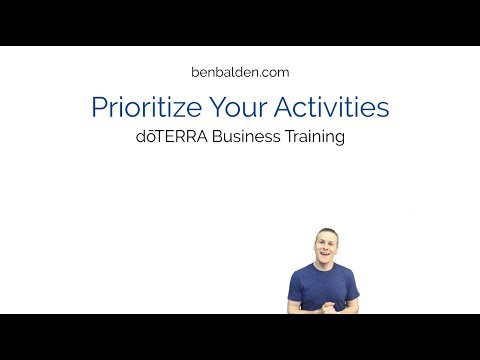 Prioritize Your Activities doTERRA Business Training Train Guide ...