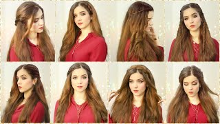 8 Easy Hair Styles   Long Hairstyles   Hairstyles For Girls   Hair Styles For Eid Or Parties