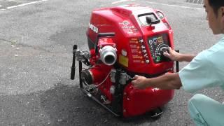 消防ポンプ 残水処理方法 取扱説明