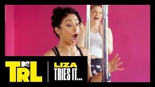 Liza Koshy Tries Pole Dancing   Liza Tries It   TRL