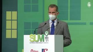 """Palabras de S.M. el Rey en la inauguración del """"SUM Bilbao 2021 – Sustainable Urban Mobility Congress"""""""