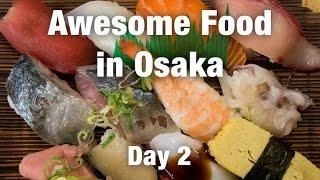 Japanese Food Tour in Osaka: Kuromon Market and AMAZING Sushi!
