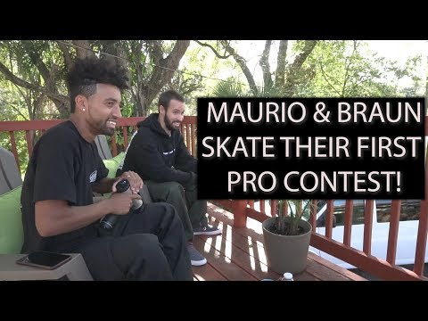 Maurio & Braun skate in their first Pro Contest // Tampa Pro 2019