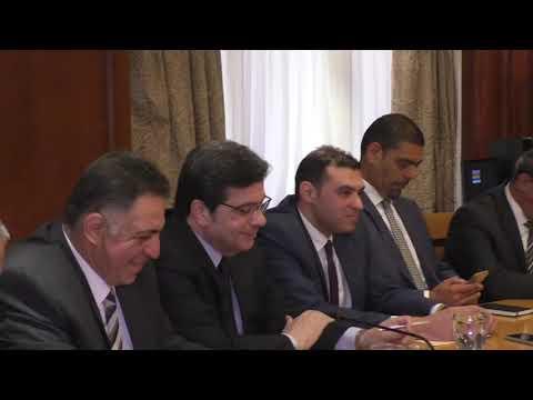 الوزير/عمرو نصار يعقد إجتماعاً مع أعضاء مجلس التجارة والصناعة بعد إعادة تشكيله