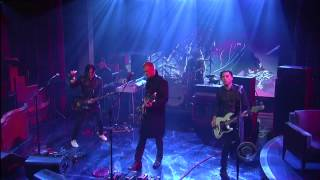 Queens of the Stone Age - 'My God Is The Sun' 6/5 Letterman (TheAudioPerv.com)