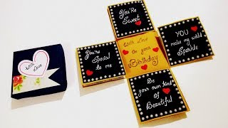 Beautiful Birthday card idea | Handmade Birthday card | How to Make Birthday Card | Tutorial