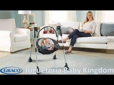 Columpio silla mecedora automatica de bebe Graco Swing By Me   Jugueteria Baby Kingdom