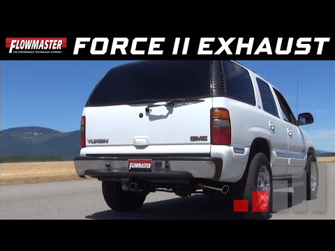2000-06 GM Tahoe, Yukon 4.8L, 5.3L - Force II Cat-back Exhaust System 817344