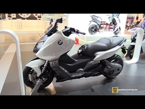 2015 BMW C600 Sport Maxi Scooter - Walkaround - 2014 EICMA Milan Motorcycle Exhibition