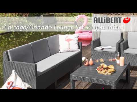 Allibert Chicago lounge set met Lyon table Assembly video