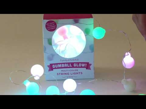 Youtube Video for Gumball Glow String Lights